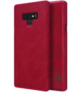 """Odinis raudonas atverčiamas dėklas Samsung Galaxy Note 9 telefonui """"Nillkin Qin"""""""