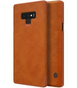 """Odinis rudas atverčiamas dėklas Samsung Galaxy Note 9 telefonui """"Nillkin Qin"""""""