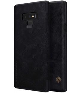 """Odinis juodas atverčiamas dėklas Samsung Galaxy Note 9 telefonui """"Nillkin Qin"""""""