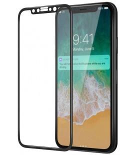 """Juodas 5D apsauginis grūdintas stiklas Apple iPhone X telefonui """"Mocolo"""""""