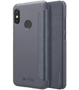 """Atverčiamas pilkas dėklas Xiaomi Mi A2 Lite telefonui """"Nillkin Sparkle S-View"""""""