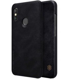 """Odinis juodas atverčiamas dėklas Xiaomi Mi A2 Lite telefonui """"Nillkin Qin S-View"""""""