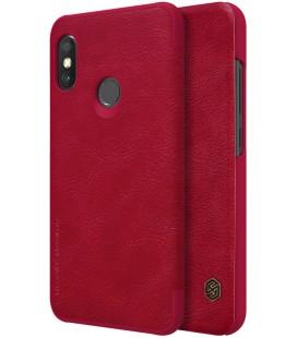 """Odinis raudonas atverčiamas dėklas Xiaomi Mi A2 Lite telefonui """"Nillkin Qin S-View"""""""