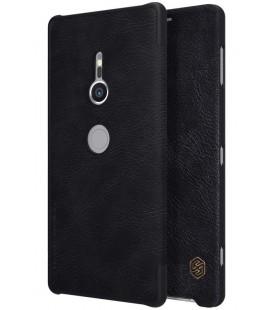 """Odinis juodas atverčiamas dėklas Sony Xperia XZ2 telefonui """"Nillkin Qin"""""""