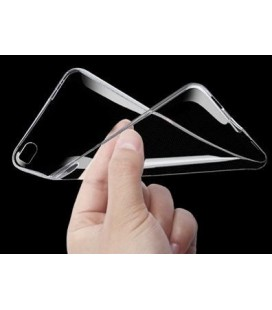 Skaidrus plonas 0,3mm silikoninis dėklas Samsung Galaxy A6 2018 telefonui