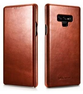 """Rudas odinis atverčiamas dėklas Samsung Galaxy Note 9 telefonui """"iCarer Vintage"""""""