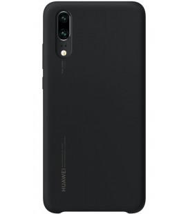 """Originalus juodas dėklas Huawei P20 telefonui """"Silicone Case"""""""