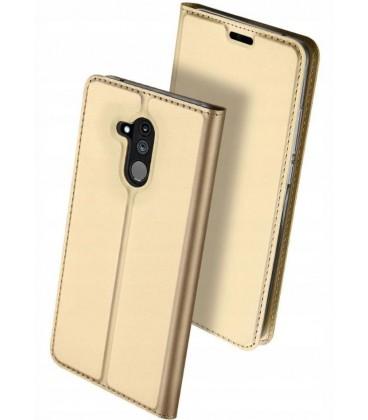"""Auksinės spalvos atverčiamas dėklas Huawei Mate 20 Lite telefonui """"Dux Ducis Skin"""""""
