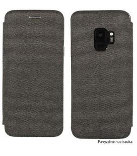 """Tamsiai pilkas atverčiamas dėklas Samsung Galaxy S9 Plus telefonui """"Book Vennus Cotton"""""""