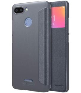"""Atverčiamas pilkas dėklas Xiaomi Redmi 6 telefonui """"Nillkin Sparkle S-View"""""""