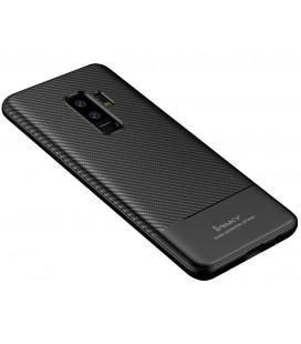 """Juodas dėklas Samsung Galaxy S9 Plus telefonui """"iPaky Carbon Fiber"""""""