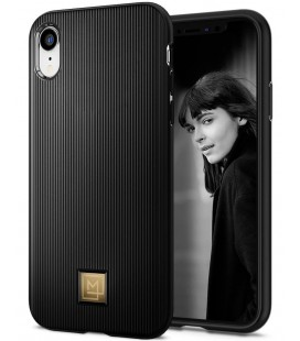 "Juodas dėklas Apple iPhone XR telefonui ""Spigen La Manon Classy"""