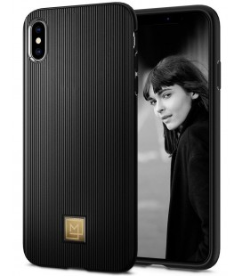 "Juodas dėklas Apple iPhone X/XS telefonui ""Spigen La Manon Classy"""