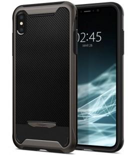 "Pilkas dėklas Apple iPhone XS Max telefonui ""Spigen Hybrid Nx"""