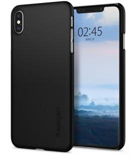 "Juodas dėklas Apple iPhone XS Max telefonui ""Spigen Thin Fit"""