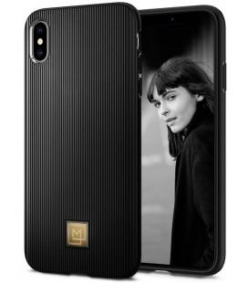 "Juodas dėklas Apple iPhone XS Max telefonui ""Spigen La Manon Classy"""