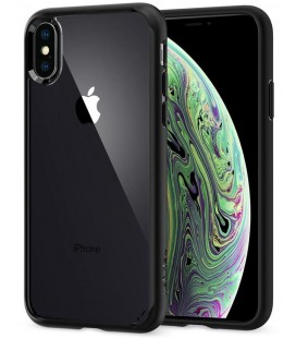 "Matinis juodas dėklas Apple iPhone XS Max telefonui ""Spigen Ultra Hybrid"""