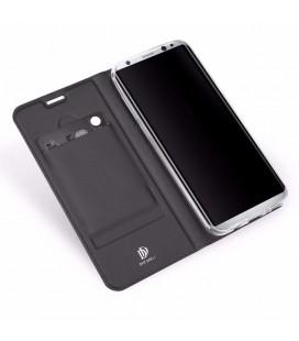 """Juodas dėklas Samsung Galaxy J3 2017 telefonui """"Glass Case"""""""