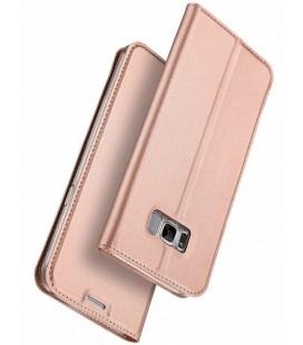 """Rausvai auksinės spalvos atverčiamas dėklas Samsung Galaxy S8 telefonui """"Dux Ducis Skin"""""""