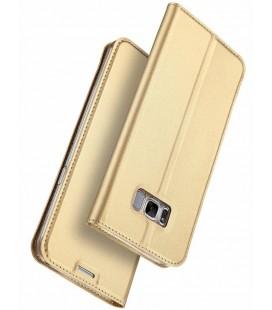 """Auksinės spalvos atverčiamas dėklas Samsung Galaxy S8 telefonui """"Dux Ducis Skin"""""""