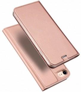 """Rausvai auksinės spalvos atverčiamas dėklas Apple iPhone 7/8 telefonui """"Dux Ducis Skin"""""""