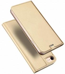 """Auksinės spalvos atverčiamas dėklas Apple iPhone 7/8 telefonui """"Dux Ducis Skin"""""""