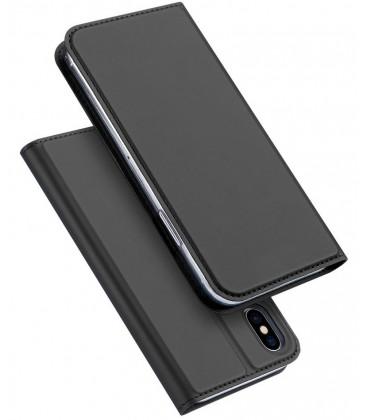 """Pilkas atverčiamas dėklas Apple iPhone X/XS telefonui """"Dux Ducis Skin"""""""