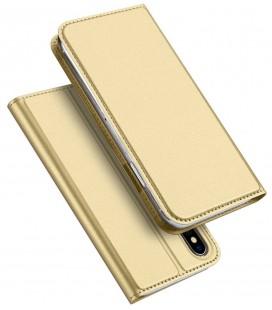 """Auksinės spalvos atverčiamas dėklas Apple iPhone X/XS telefonui """"Dux Ducis Skin"""""""