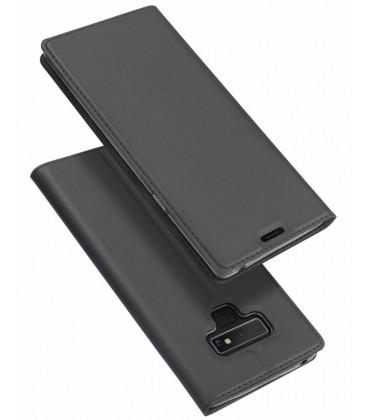 """Pilkas atverčiamas dėklas Samsung Galaxy Note 9 telefonui """"Dux Ducis Skin"""""""