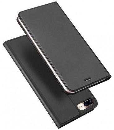 """Pilkas atverčiamas dėklas Apple iPhone 7 Plus / 8 Plus telefonui """"Dux Ducis Skin"""""""