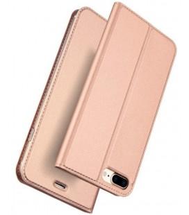 """Rausvai auksinės spalvos atverčiamas dėklas Apple iPhone 7 Plus / 8 Plus telefonui """"Dux Ducis Skin"""""""