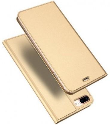 """Auksinės spalvos atverčiamas dėklas Apple iPhone 7 Plus / 8 Plus telefonui """"Dux Ducis Skin"""""""