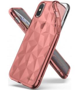 """Rausvai auksinės spalvos dėklas Apple iPhone X/XS telefonui """"Ringke Air Prism"""""""