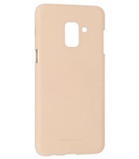 """Smėlio spalvos silikoninis dėklas Samsung Galaxy A6 Plus 2018 telefonui """"Mercury Soft Feeling"""""""