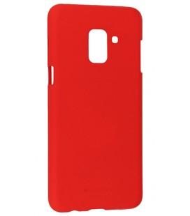 """Raudonas silikoninis dėklas Samsung Galaxy A6 Plus 2018 telefonui """"Mercury Soft Feeling"""""""