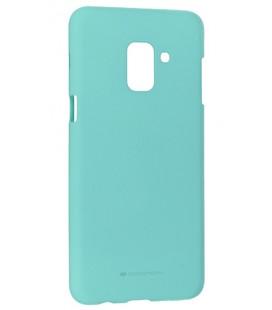 """Mėtos spalvos silikoninis dėklas Samsung Galaxy A6 Plus 2018 telefonui """"Mercury Soft Feeling"""""""