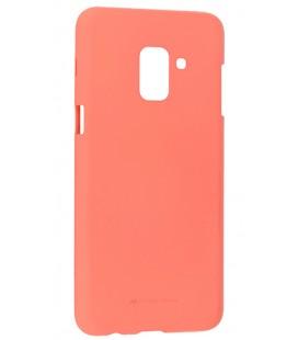 """Rožinis silikoninis dėklas Samsung Galaxy A6 Plus 2018 telefonui """"Mercury Soft Feeling"""""""