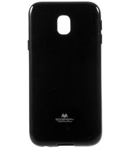 """Juodas silikoninis dėklas Samsung Galaxy J3 2017 telefonui """"Mercury Goospery Pearl Jelly Case"""""""