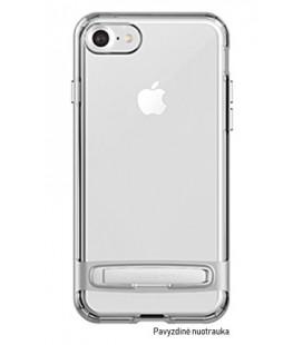 """Sidabrinės spalvos silikoninis dėklas Samsung Galaxy A8 2018 telefonui """"Mercury Goospery Dream Bumper"""""""
