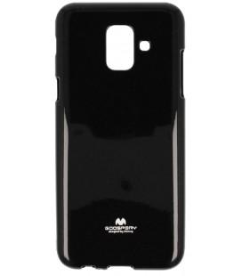 """Juodas silikoninis dėklas Samsung Galaxy A6 2018 telefonui """"Mercury Goospery Pearl Jelly Case"""""""