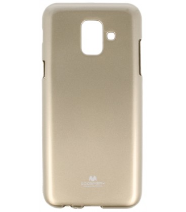 """Auksinės spalvos silikoninis dėklas Samsung Galaxy A6 2018 telefonui """"Mercury Goospery Pearl Jelly Case"""""""