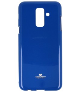 "Mėlynas silikoninis dėklas Samsung Galaxy A6 2018 telefonui ""Mercury Goospery Pearl Jelly Case"""