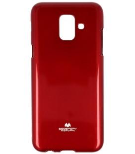 """Raudonas silikoninis dėklas Samsung Galaxy A6 2018 telefonui """"Mercury Goospery Pearl Jelly Case"""""""