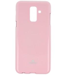 """Šviesiai rožinis silikoninis dėklas Samsung Galaxy A6 2018 telefonui """"Mercury Goospery Pearl Jelly Case"""""""
