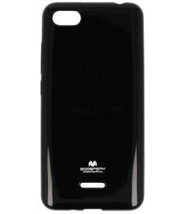 """Juodas silikoninis dėklas Xiaomi Redmi 6A telefonui """"Mercury Goospery Pearl Jelly Case"""""""