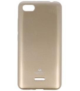 """Auksinės spalvos silikoninis dėklas Xiaomi Redmi 6A telefonui """"Mercury Goospery Pearl Jelly Case"""""""