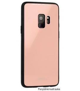 """Rožinis dėklas Xiaomi Redmi 6 telefonui """"Glass Case"""""""