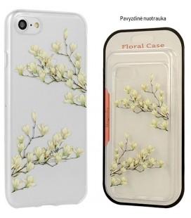 "Skaidrus dėklas Samsung Galaxy A8 2018 telefonui ""Floral Case Magnolia"""