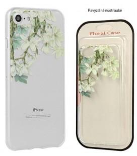 """Skaidrus dėklas Samsung Galaxy A8 2018 telefonui """"Floral Case Jasmine"""""""