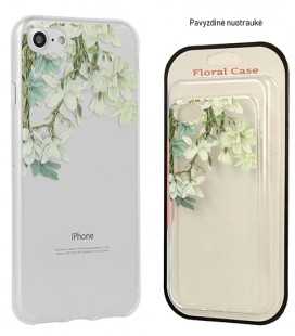 "Skaidrus dėklas Apple iPhone X/XS telefonui ""Floral Case Jasmine"""